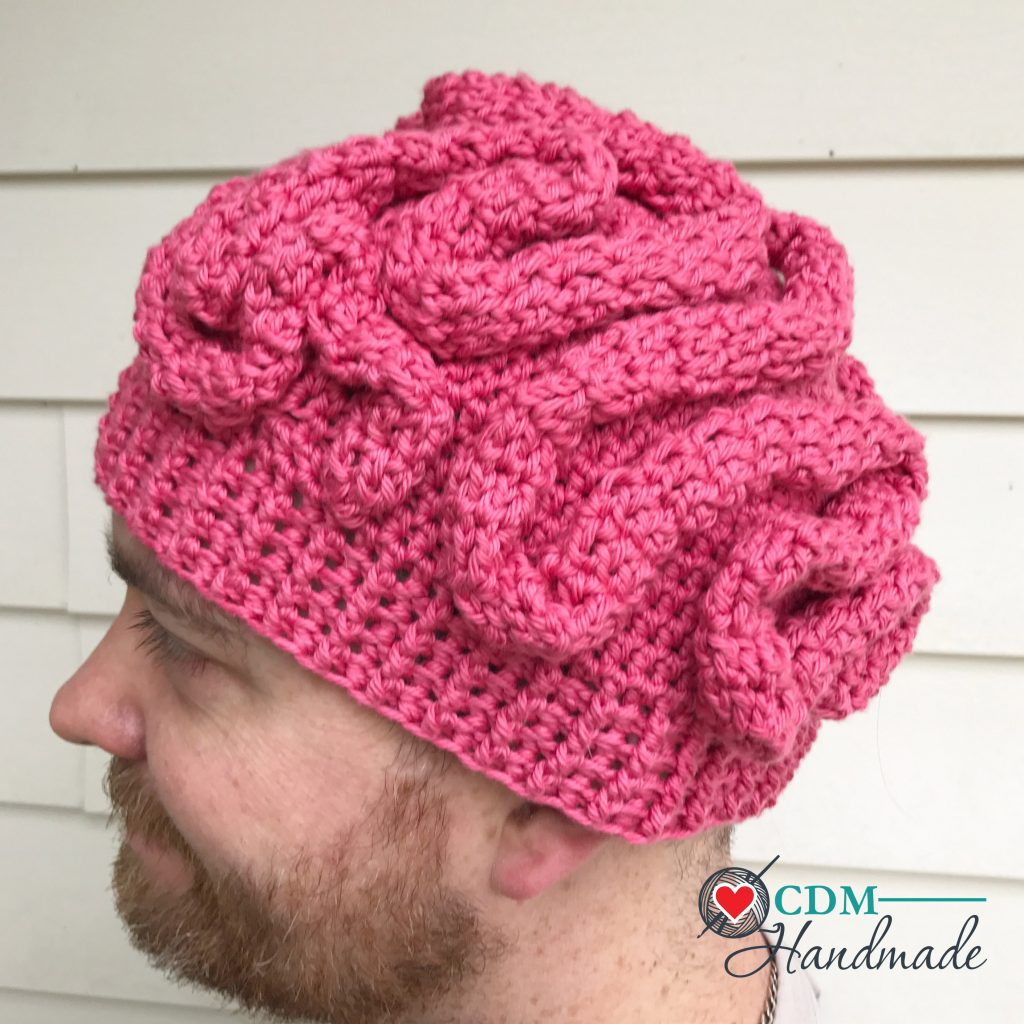photograph regarding Brain Hat Printable known as Crochet Mind Beanie - a Absolutely free Practice CDM Do-it-yourself
